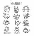 horoscope cute cartoon vector image vector image