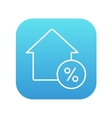 House with discount tag line icon vector image vector image
