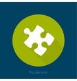 Icon puzzle piece with a long shadow vector image vector image