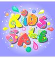 Kids sale banner vector image vector image