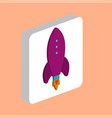 launch rocket computer symbol for your business vector image