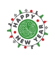logo for the new year vector image vector image