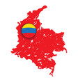 map of colombia with a label vector image