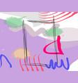 memphis style poster set fluid color backgrounds vector image