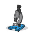 microscope on a white background vector image vector image