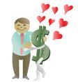 money in love vector image
