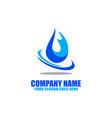 natural water logo logo icon vector image vector image