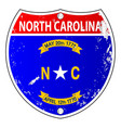 north carolina flag icons as interstate sign vector image vector image