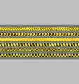 realistic yellow seamless warning stripe lines vector image