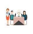 restaurant guests in flat vector image vector image