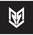 rr logo monogram with emblem shield style design vector image vector image