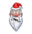Santa Claus Confused Head vector image vector image