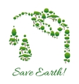 Save Earth symbol of trees in gasoline drop shape vector image vector image