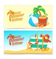 Sea shore and beach accessories vector image vector image