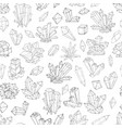 seamless background with black and white doodle vector image