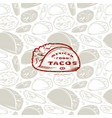 seamless pattern and emblem for mexican restaurant vector image vector image