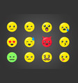 set emoticons with interesting expressions vector image