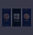 set logo design templates brochures vector image vector image