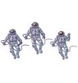 set of cosmonauts vector image vector image