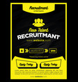 strong yellow and bold black employee recruitment vector image