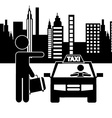 taxi service vector image vector image