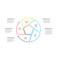 thin line cycle infographic with arrows modern vector image