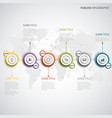time line info graphic with abstract design round vector image vector image