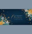 tropical christmas banner vector image