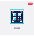 two color qr code icon from delivery and logistic vector image