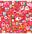valentine day red flat design seamless pattern vector image vector image