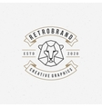 Vintage lion face Line art logotype emblem symbol vector image vector image