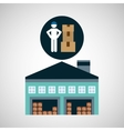 warehouse building man worker package vector image vector image