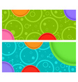2 horizontal banner with circles and circles with vector image