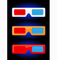 3D cinema vector image vector image
