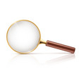3d realistic magnifying glass optical vector image