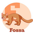 abc cartoon fossa vector image vector image