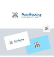 air turbine logotype with business card template vector image vector image