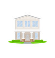 beautiful two-storey country house with white vector image vector image