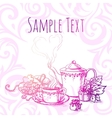 beautiful vintage banner with tea vector image vector image