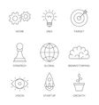 Business creative process icons vector image