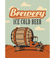 car brewery vector image