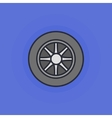 Car wheel flat icon vector image