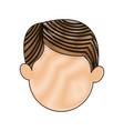 cartoon head man male manger icon vector image vector image