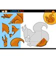 Cartoon squirrel puzzle game vector image vector image