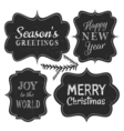 chalkboard style vintage labels for christmas vector image vector image