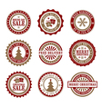 Christmas Badges and Stamps vector image vector image