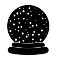 christmas snowglobe cartoon design icon symbol vector image vector image