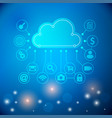 cloud technology abstract vector image