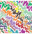 colorful doodle abstract seamless background vector image vector image