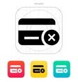 Credit card denied icon vector image vector image